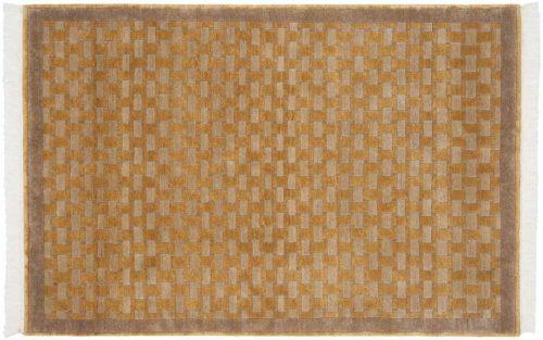 4×6 Modern Gold Oriental Rug 038502