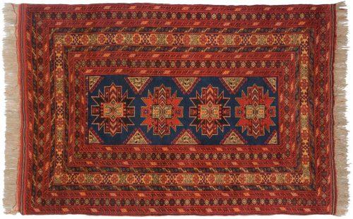 4×6 Daulatabad Black Oriental Rug 011586