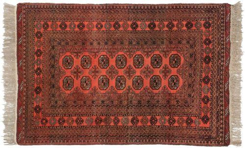 4×6 Daulatabad Red Oriental Rug 011582