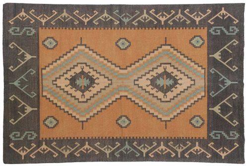 4×6 Dhurrie Orange Oriental Rug 023957