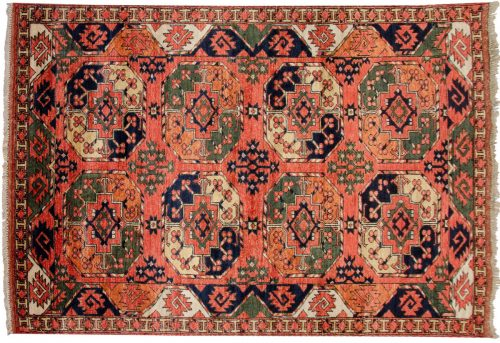 4×6 Ersari Rust Oriental Rug 048872