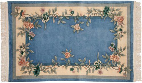 4×6 Floral Blue Oriental Rug 028676