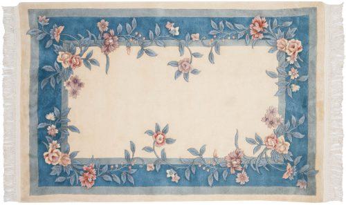 4×6 Floral Ivory Oriental Rug 028681