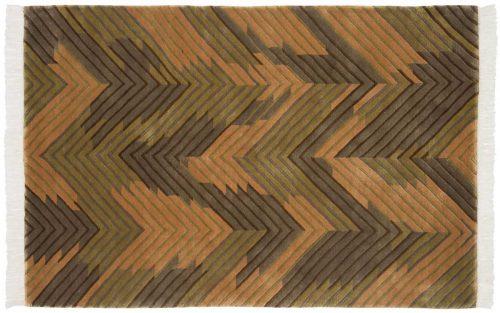 4×6 Geometric Gold Oriental Rug 037018