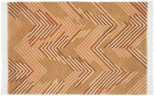 4×6 Geometric Gold Oriental Rug 037020