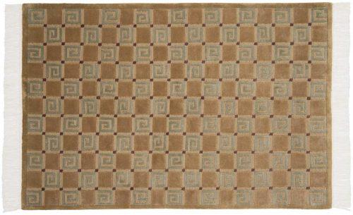 4×6 Block Gold Oriental Rug 032302