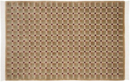 4×6 Block Gold Oriental Rug 040301