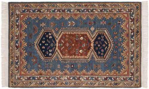 4×6 Hamadan Blue Oriental Rug 020501