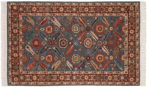 4×6 Hamadan Blue Oriental Rug 020828