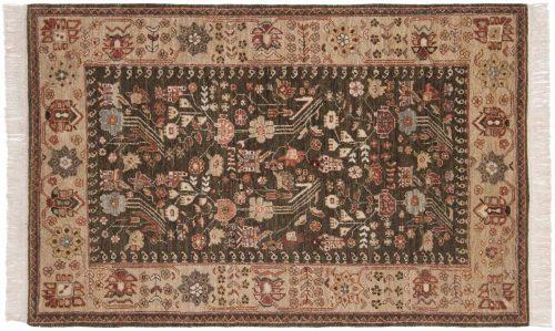4×6 Hamadan Green Oriental Rug 020653