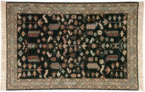 4×6 Hamadan Green Oriental Rug 021019