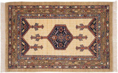 4×6 Hamadan Ivory Oriental Rug 021021