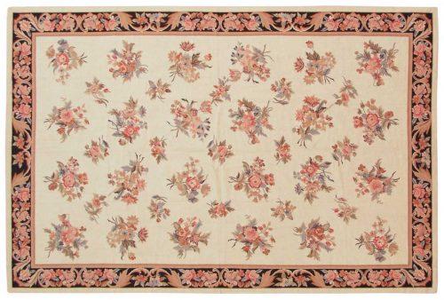 4×6 Aubusson Ivory Oriental Rug 013963