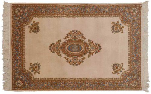 4×6 Savonnerie Ivory Oriental Rug 023329