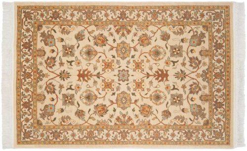 4×6 Kashan Ivory Oriental Rug 039238