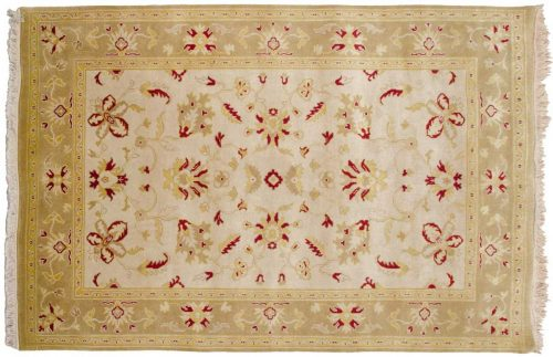 4×6 Agra Ivory Oriental Rug 039280