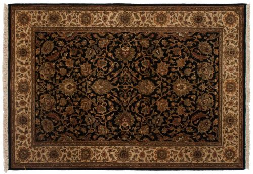 4×6 Jaipur Black Oriental Rug 042639