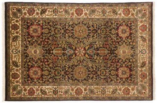 4×6 Jaipur Brown Oriental Rug 042644