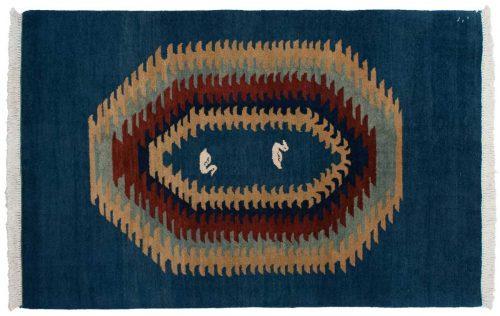 4×6 Kabul Blue Oriental Rug 024270