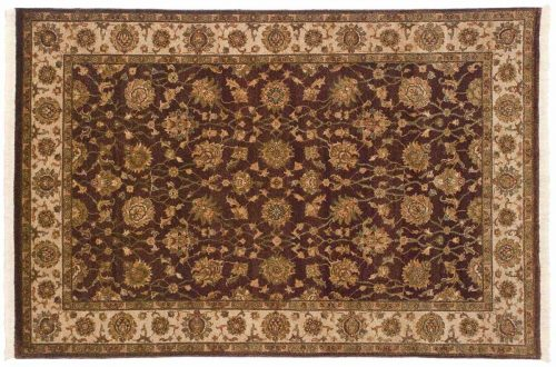 4×6 Kashan Brown Oriental Rug 042554