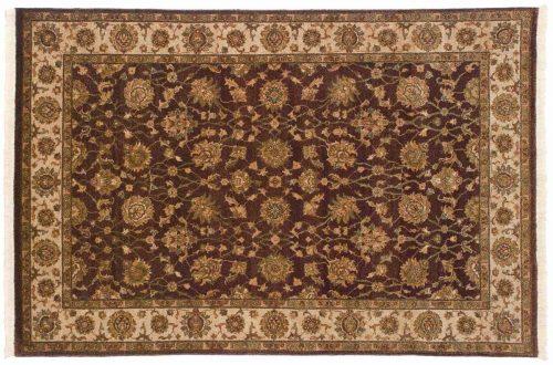 4×6 Kashan Brown Oriental Rug 042554