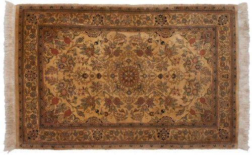 4×6 Kashan Ivory Oriental Rug 030909
