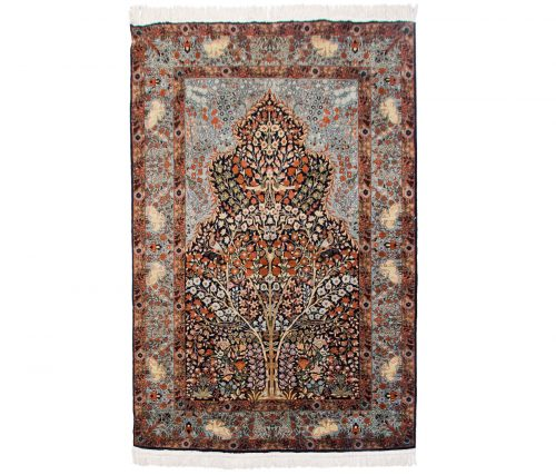 4×6 Kashmir Blue Oriental Rug 013264