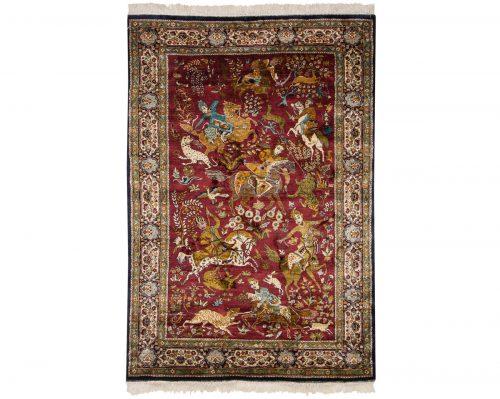 4×6 Kashmir Red Oriental Rug 013127