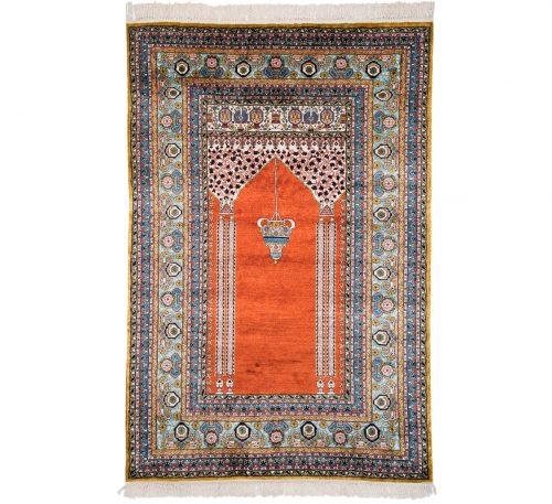 4×6 Kashmir Rust Oriental Rug 013130