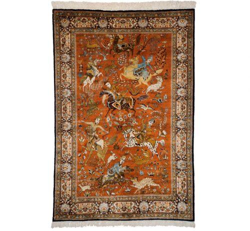 4×6 Kashmir Rust Oriental Rug 013168