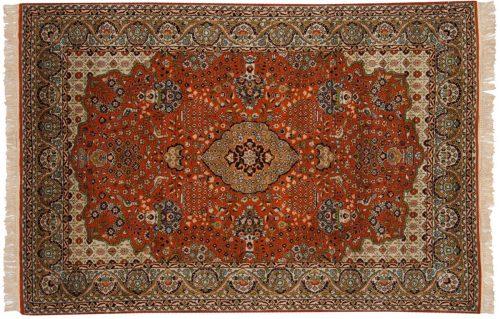4×6 Kashmir Rust Oriental Rug 013177