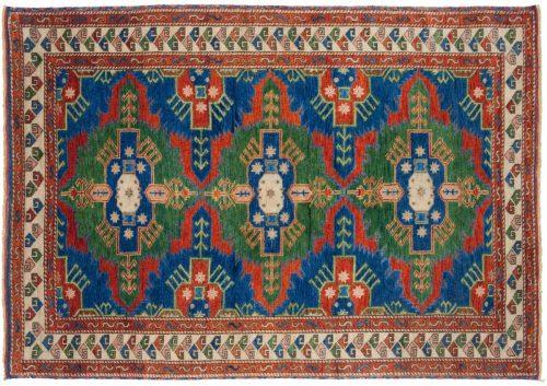 4×6 Kazak Blue Oriental Rug 012997