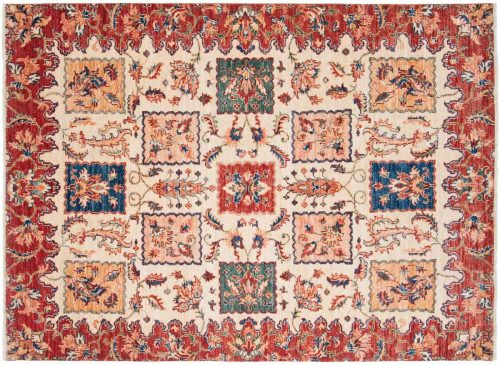 4×6 Kazak Ivory Oriental Rug 047690