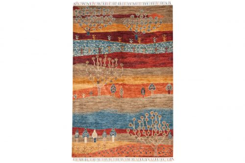 4×6 Kazak Multi Color Oriental Rug 048814