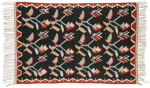 4×6 Kilim Black Oriental Rug 034572