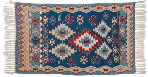4×6 Kilim Blue Oriental Rug 034552