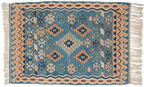 4×6 Kilim Blue Oriental Rug 034557