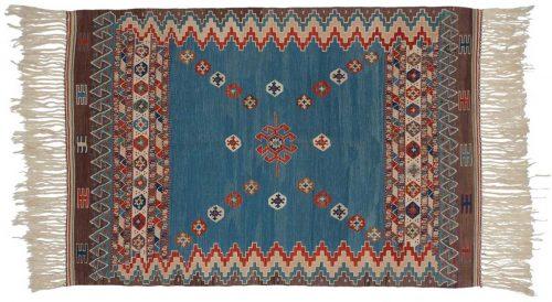 4×6 Kilim Blue Oriental Rug 034565