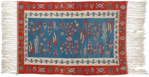 4×6 Kilim Blue Oriental Rug 034634