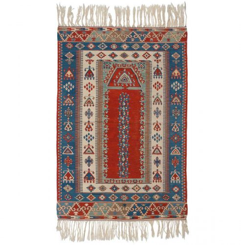 4×6 Kilim Ivory Oriental Rug 034569