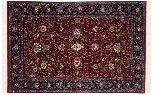 4×6 Meshed Burgundy Oriental Rug 024983