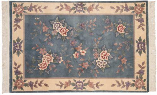 4×6 Modern Grey Oriental Rug 012425