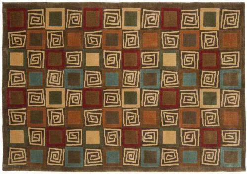 4×6 Block Multi Color Oriental Rug 041932
