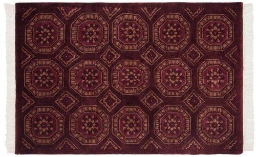 4×6 Octagon Burgundy Oriental Rug 036454