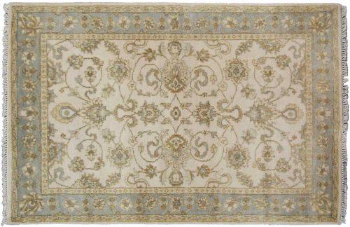 4×6 Oushak Ivory Oriental Rug 045004