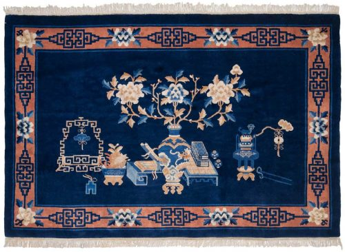 6×4 Peking Blue Oriental Rug 013631