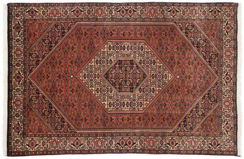 4×6 Persian Bijar Rust Oriental Rug 014250