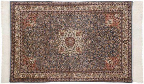 4×6 Kashan Blue Oriental Rug 034305