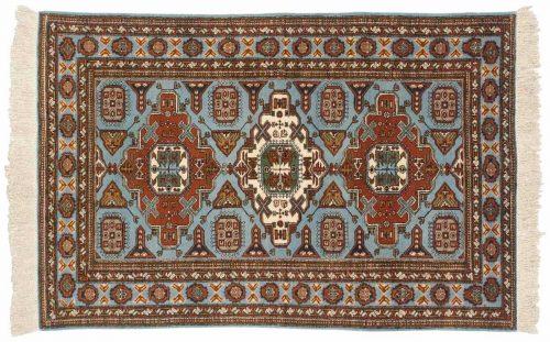 4×6 Persian Guba Blue Oriental Rug 035451
