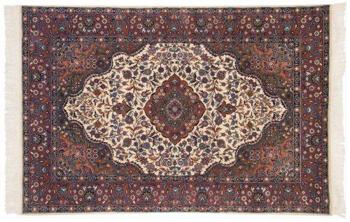 4×6 Persian Ivory Oriental Rug 013832